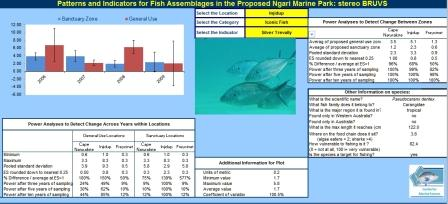 Interactive excel spreadsheet fish BRUVS