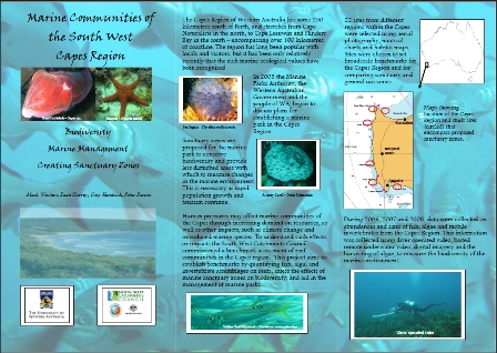 brochure marine communities of the south west capes region